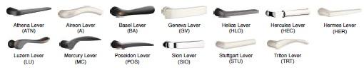 Emtek Brass Modern Lever Options