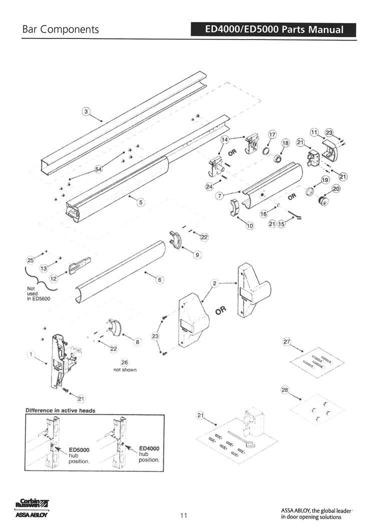ED4000/ ED5000_Bar_Parts_List