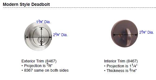 Emtek Brass Modern Deadbolt Style Details