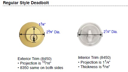 Emtek Regular Deadbolt Details