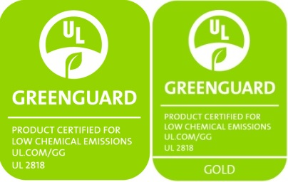 Greenguard Certified for Low Chemical Emissions UL 2818