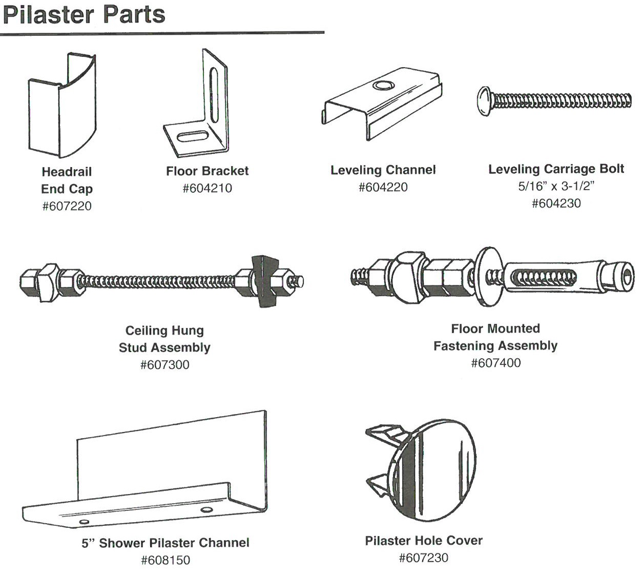 Hadrian Pilaster Parts Diagram