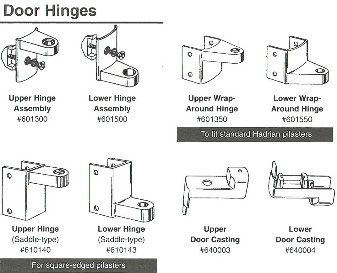 Hadrian Standard Door Hinge Diagram