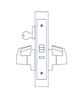PDQ Mortise Lockset MR148 Classroom Function