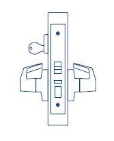 PDQ Mortise Lockset MR116 Office Function