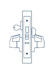 PDQ Mortise Lockset MR136 Dormitory Function