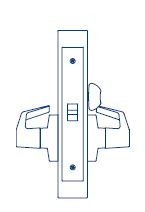 PDQ Mortise Lockset MR176 Privacy Function