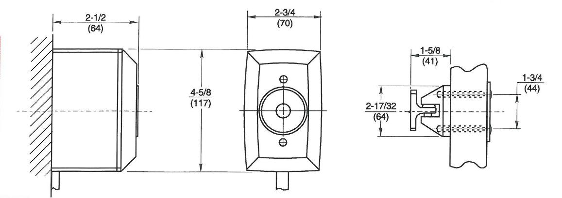 Rixson 996 Magnetic Release Dimensions