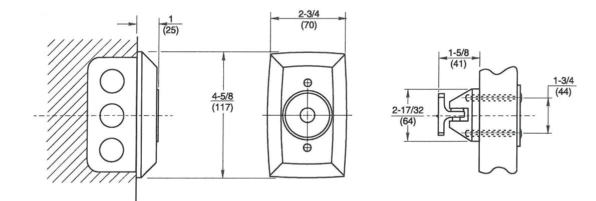 Rixson 997 Magnetic Release Dimensions