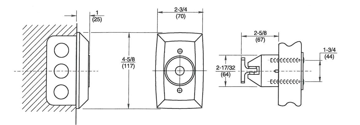 Rixson 998 Magnetic Release Dimensions