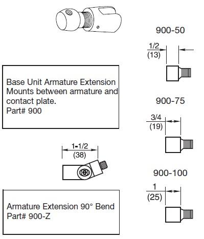 Rixson Armature Extenstion Parts
