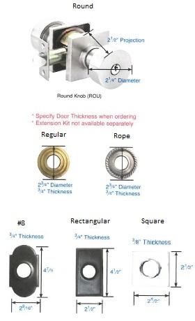 Emtek Round Knob Lockset