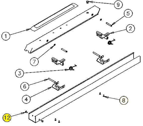 Sargent 01-1141 US32D Machine Screw for Rail Devices