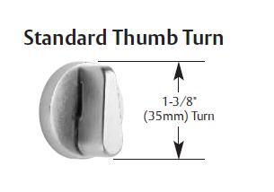 Sargent 130W Thumb Turn