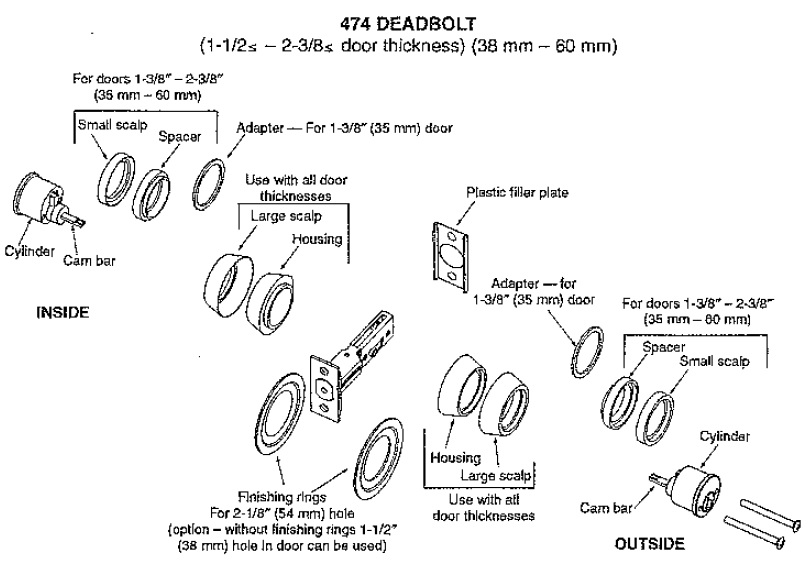 Deadbolt Parts Diagram Wiring Diagram
