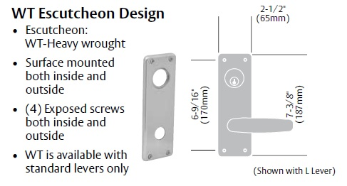 Sargent Mortise Lockset 8200 with WTL Design