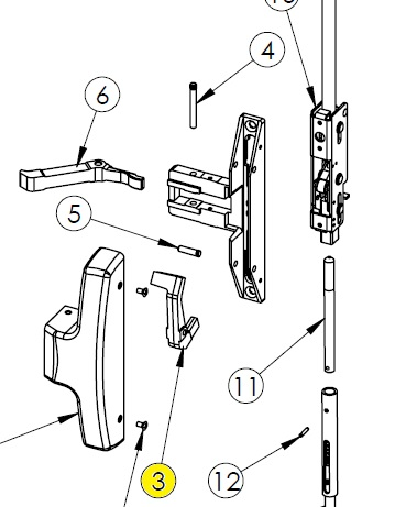 Sargent 8400 Lift Lever Illustration