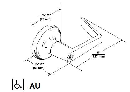 Yale 440F AU Dimensions