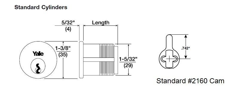 Yale Mortise Cylinder 2153