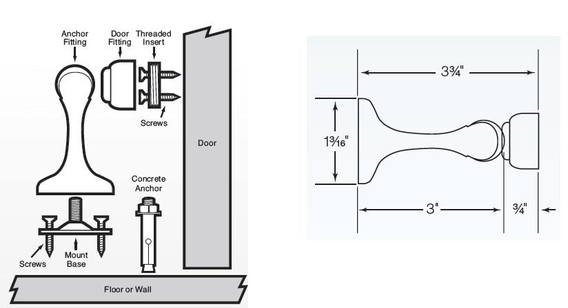 Soss Magnetic Door Holder MDH