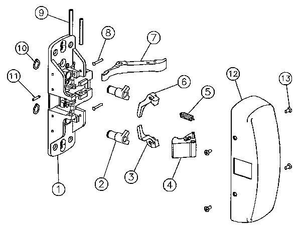 Sargent 98 0011 Pivot Pin Sargent Exit Device Parts