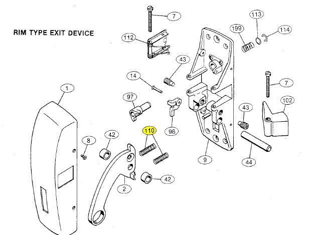 Von Duprin Parts Diagram Latch Parts Elsavadorla