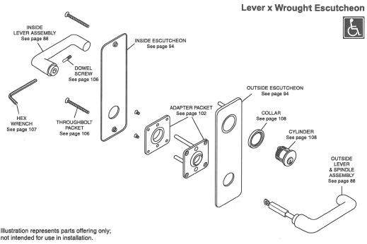 corbin russwin mortise lock parts diagram