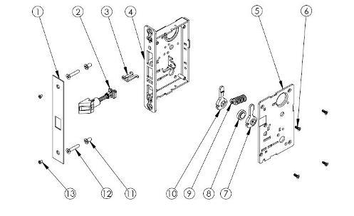 door lock parts diagram. Glamorous Front Door Locks Parts Pictures - Image Design House . Lock Diagram