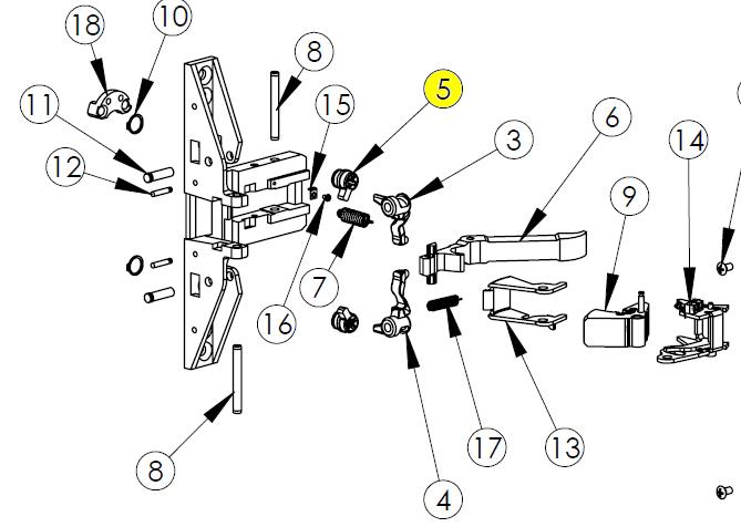 1472710 also 2570 together with Panic Bar Parts Diagram furthermore Poulan 2150 Chainsaw Parts List besides Von Duprin Parts Diagram. on jackson replacement parts