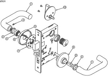 Door Lock Replacement Parts moreover Von Duprin 6200 Series 6211wf 12vdc Fail Secure Grade 1 Electric Strike For Mortise And Cylindrical Device Wood Frame furthermore Yale Mortise Lock moreover Es100 Series Electric Strike as well Adams Rite 7400 Wiring Diagram. on latchbolt diagram