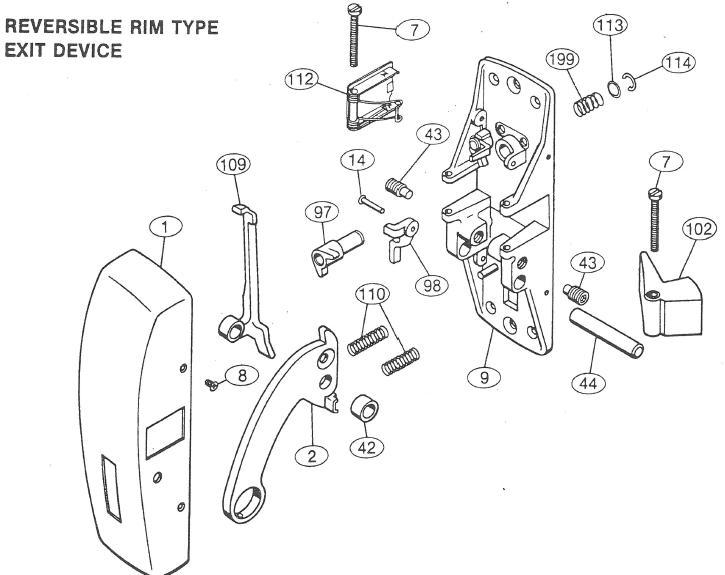 Sargent 01 0013 Machine Screw Cap Screw Sargent Exit Device Parts