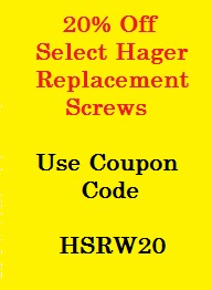 Hager Replacement Hinge Screws