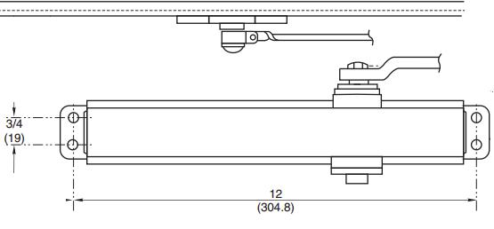 Door Closer Pattern 12 x 3 4