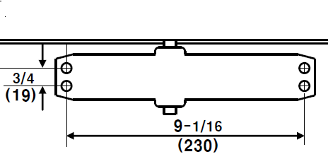 Door Closer Pattern 9 13 16 x 3 4