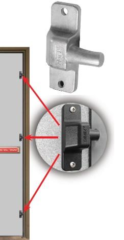 Outswinging Door Security