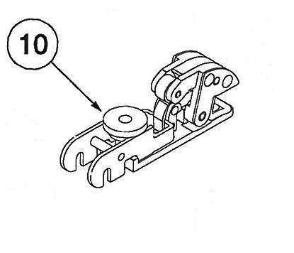 10) Corbin Russwin ED8400 Top Latch Assembly - 436F25
