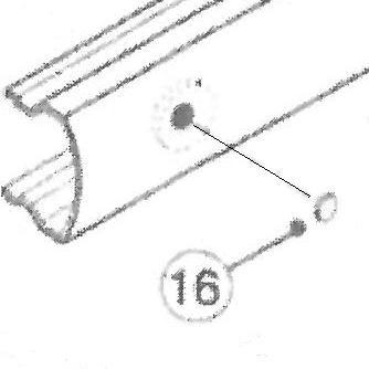 16) Corbin Russwin ED4000 & ED5000 Dogging Hole Plug - 650F27