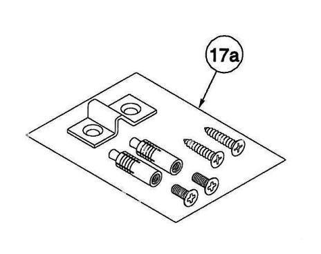 17a) Corbin Russwin ED8400 Bottom Strike Screw Pack - 446F22