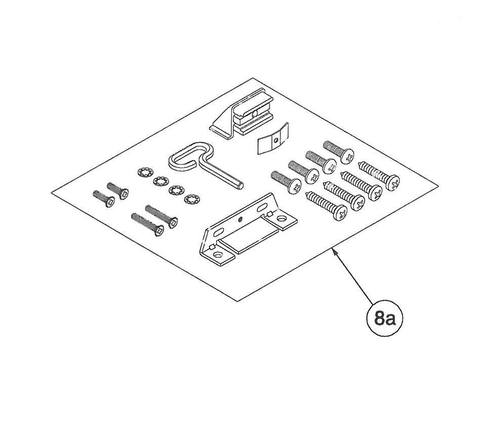Corbin Russwin ED8200 Mounting Kit - 449F82-8