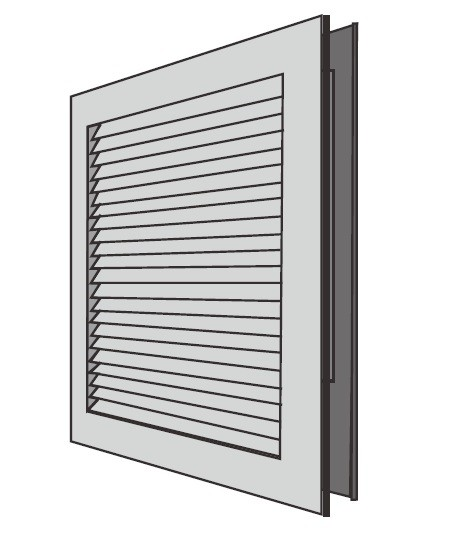 National Guard Products Steel Door Louver L-700-RX