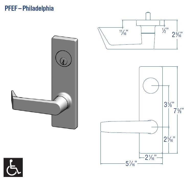 PDQ Mortise Escutcheon PFEF