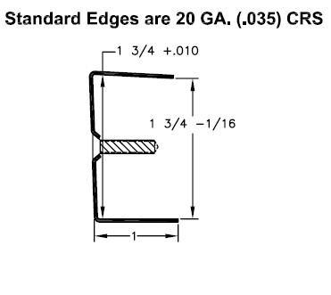 All Metal Stamping 206 83 1/4 inch Door Edging