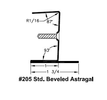 All Metal St&ing 205 83 1/4 inch Steel Astragal  sc 1 st  DoorwaysPlus! & All Metal Stamping 205 Door Astragal