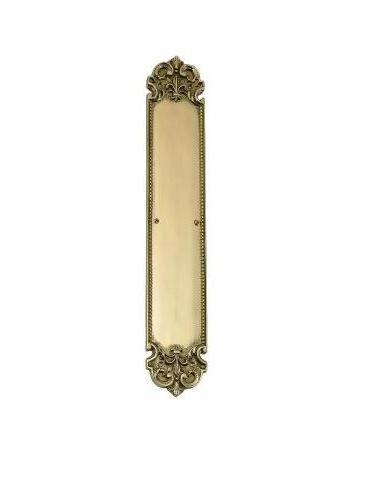 Brass Accents A04-P3220 Fleur De Lis Push Plate