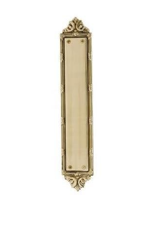 Brass Accents A05-P7230 Ribbon & Reed Push Plate