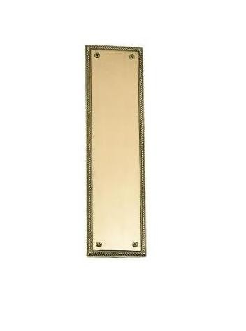 Brass Accents A06-P0240 Academy Push Plate