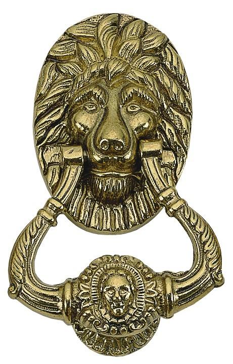 Brass Accents A07-K5000 Lion Door Knocker 7 1/2 in