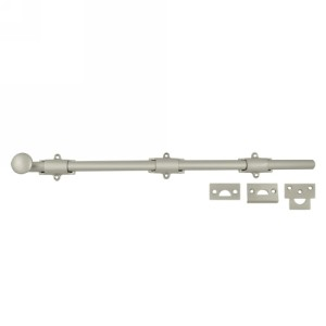 Deltana 18SB 18 Inch Solid Brass Decorative Surface Bolt