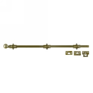 Deltana 24SB 24 Inch Solid Brass Decorative Surface Bolt