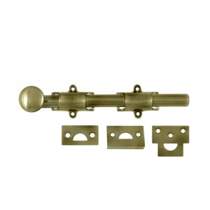 Deltana 8SB 8 Inch Solid Brass Decorative Surface Bolt